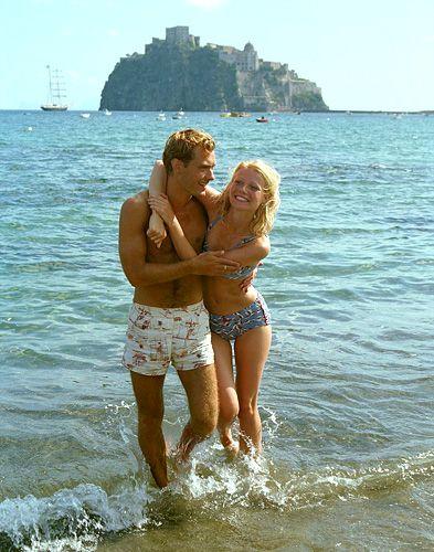 Gwyneth Paltrow and Jude Law on set, The Talented Mr Ripley
