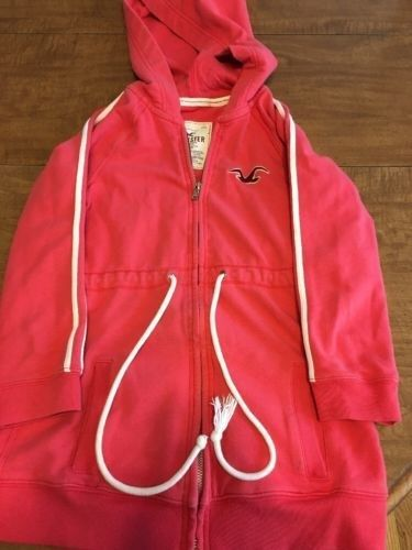 12.19$  Watch now - http://viteb.justgood.pw/vig/item.php?t=x3od1844844 - Womens Pink Coral Hollister Zip Up Hoodie Size Small 12.19$