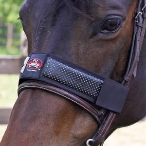 Create an invisible fly free barrier around your horse with Fly Armor™ Repellent Xtra-Strength Noseband. Repels biting flies, mosquitoes, fleas and ticks for up to 4 weeks.