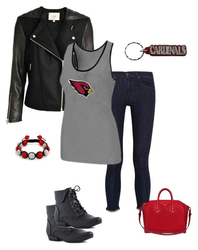 AZ Cards Game Day Look by arizonaladybirds on Polyvore featuring @AZCardinalsFootballClub @NFL #FanStyle #FootballFashion rag & bone/JEAN, Givenchy, Bling Jewelry and NIKE
