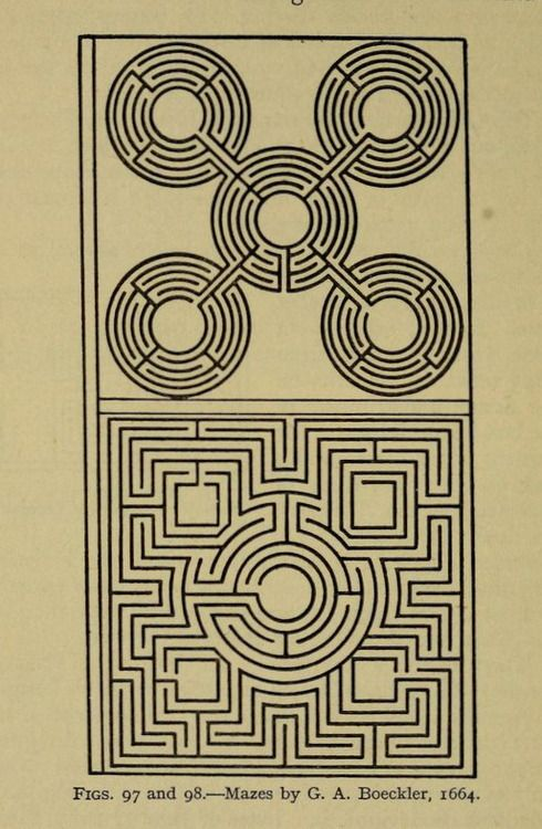 Figs. 97 and 98.Mazes and labyrinths.1922.