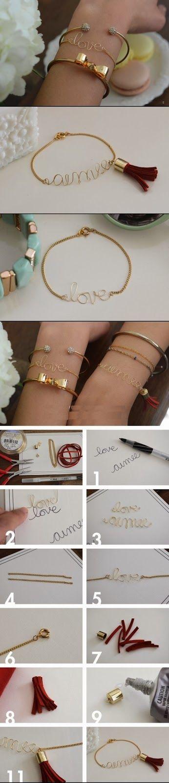 DIY Word Bracelet