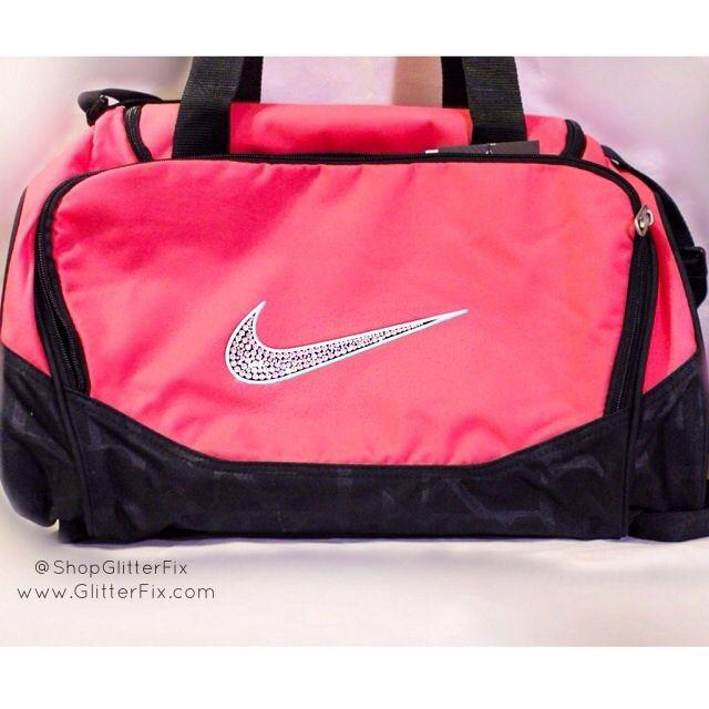 Nike X Small Duffel Bag In Pink With Swarovski RhinestonesItem Is Ready To Ship