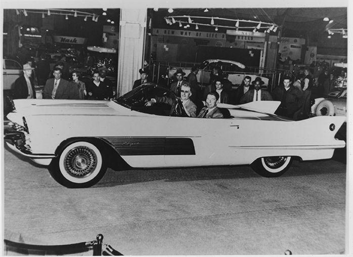 Cadillac Espada Concept Car, 1954 || Photographed with President Ronald Reagan