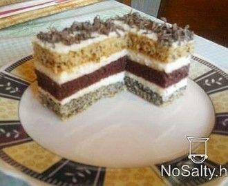 Csíkos sütemény Sylvie konyhájából recept
