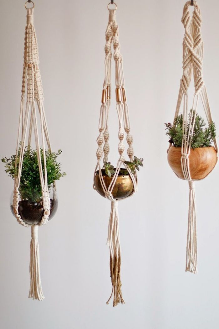 ▷ 1001 + ideas for macrame flower basket – the Orient in your home