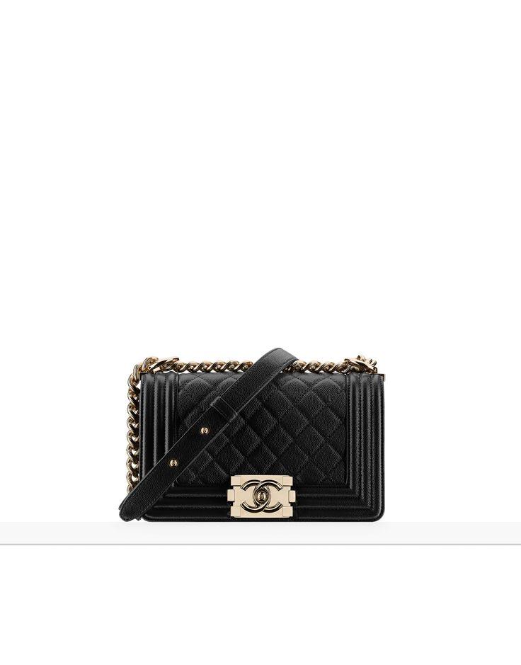 chanel handbags small boy chanel handbag grained calfskin gold tone metal black on the chanel fashion website