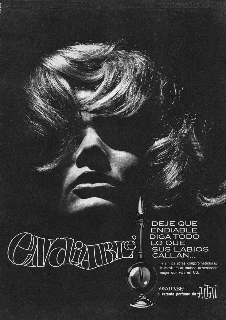 Perfume ENDIABLÉ, 1966. Ella es Chunchuna Villafañe.