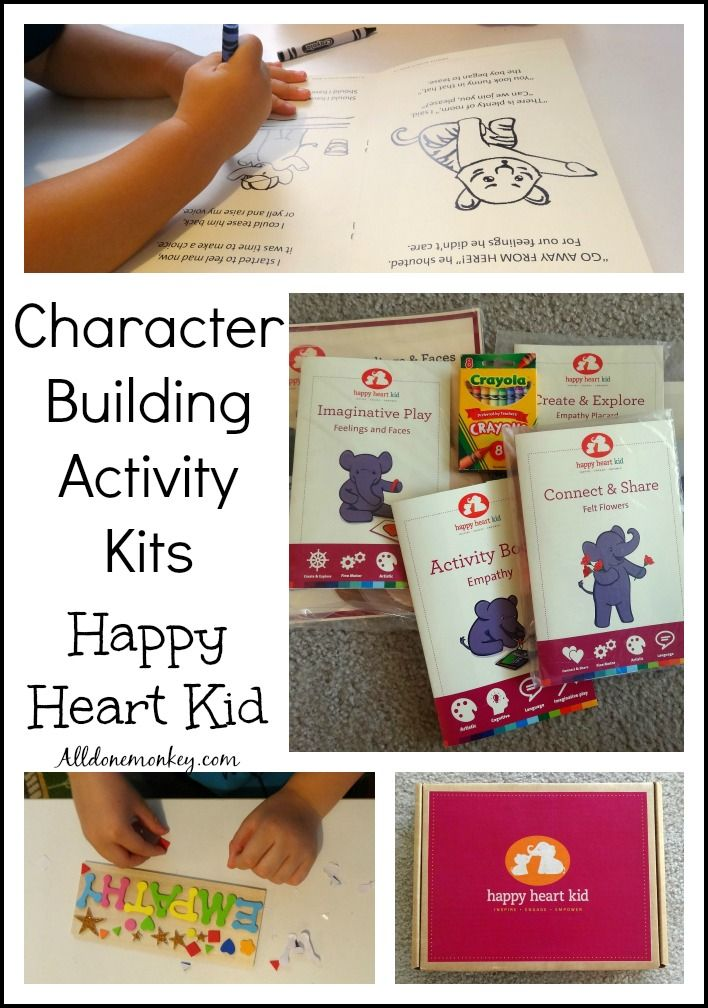 Character Building Activity Kits Happy Heart Kids KidsEmotional IntelligenceToddler