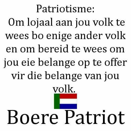 Patriotisme van die Boer