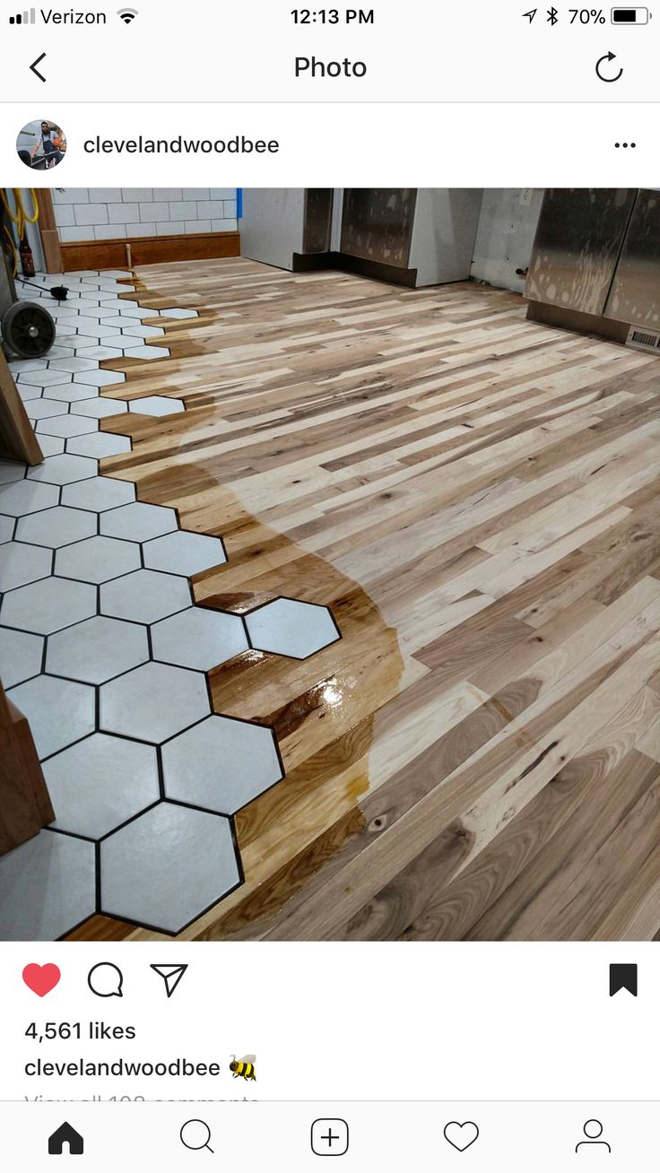 This is one of the greatest tile to hardwood floor