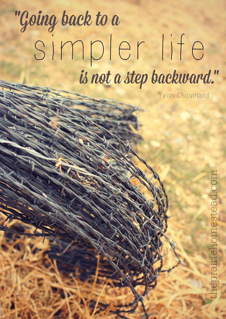 """Going back to a simpler life is not a step backward."" www.theprairiehomestead.com"
