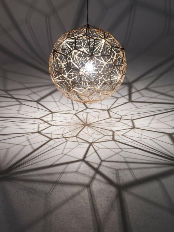 Innovative lamp design - Etch Web Lamp by Tom Dixon