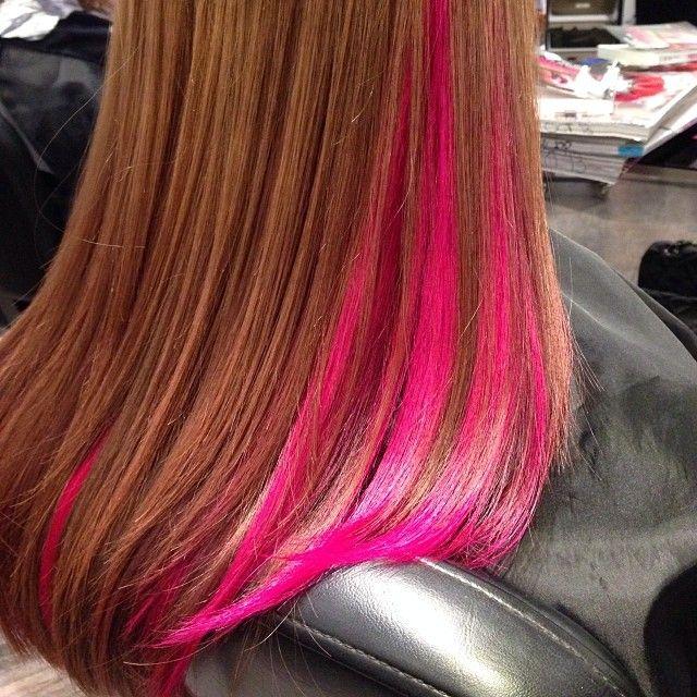 Best 25 Pink Hair Streaks Ideas On Pinterest Colored