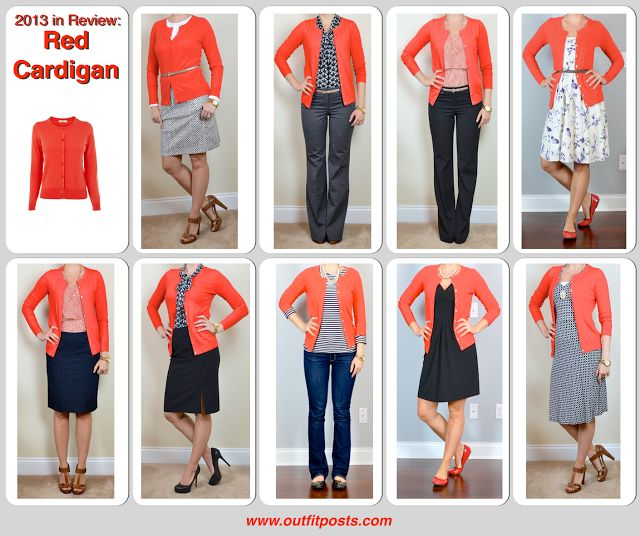 Best 25  Red cardigan outfits ideas on Pinterest | Blue and white ...