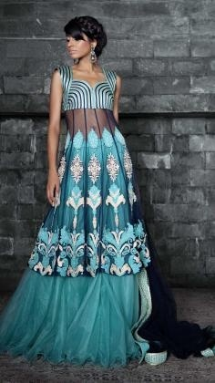 WOW!! The wedding anarkali is one of the Indian bridal garments for women in the South Asian subcontinent. The dress is often worn with pants, called churidar, and the ensemble is similar to the salwar kameez, another Indian bridal cloth really popular.