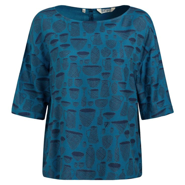 NEW SEASALT STONECHAT TUNIC TOP BLOUSE BLUE 8 to 20 in Clothes, Shoes & Accessories, Women's Clothing, Tops & Shirts | eBay