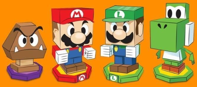 Papermau Nintendo S Official Papercraft Colection By Mario