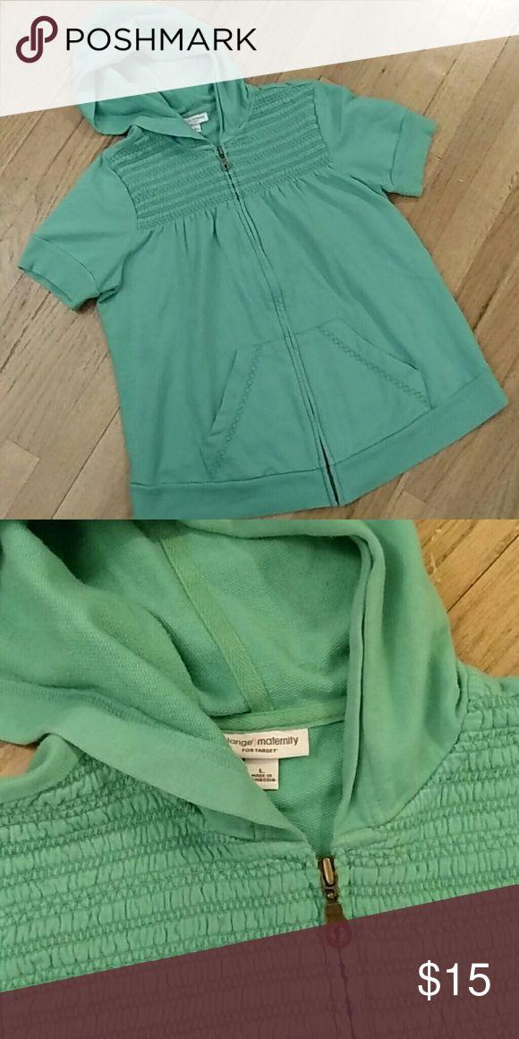 Maternity Hoodie Cute and comfy hoodie in great used condition. Liz Lange Tops Sweatshirts & Hoodies