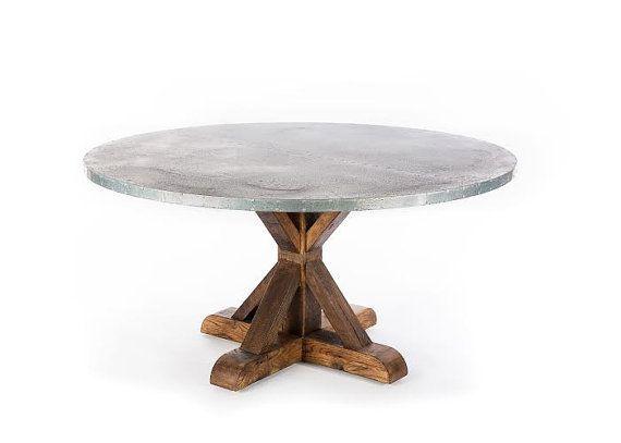 zinc table zinc dining table trestle zinc top dining table