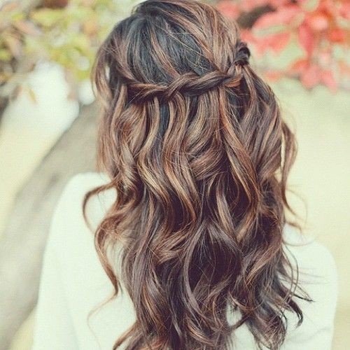 waterfall braid. nicely done.