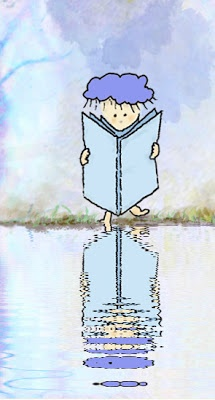 La lluvia es capaz de leer un libro reflejado en el agua de lluvia.