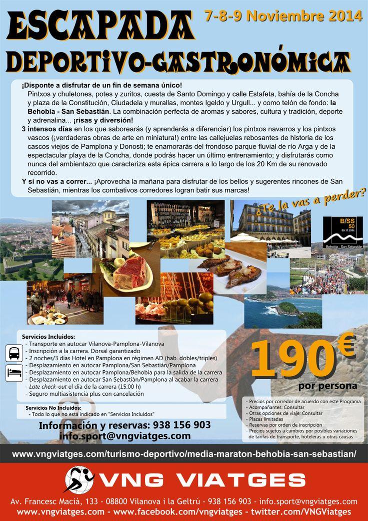 Viaje deportivo organizado a la Behobia-San Sebastián 2014 - Reserva anticipada de dorsales - Dorsales garantizados - VNG Viatges
