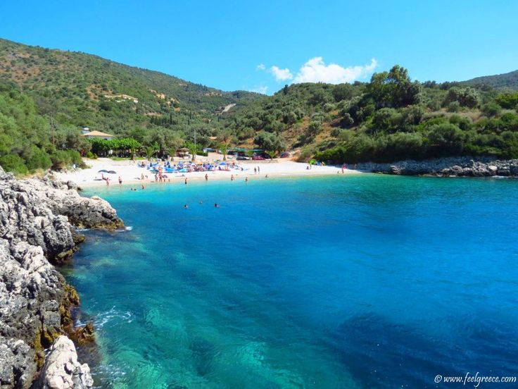 Amousso, Lefkada - small pebbled beach with crystal water