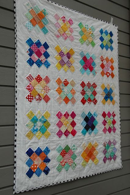 pretty AND quilted by hand! Scrappy granny square tutorial.
