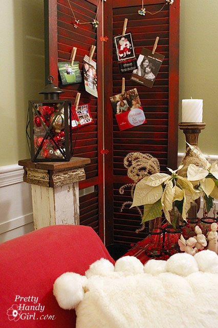 HOW-TO DISTRESS SHUTTERS TO DISPLAY CHRISTMAS CARDS