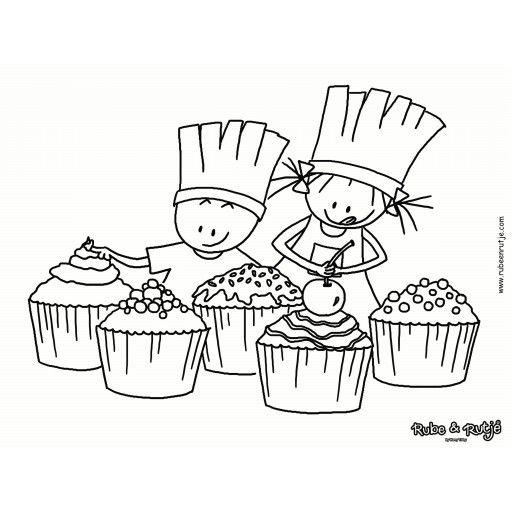 rube en rutje placemat taartjes