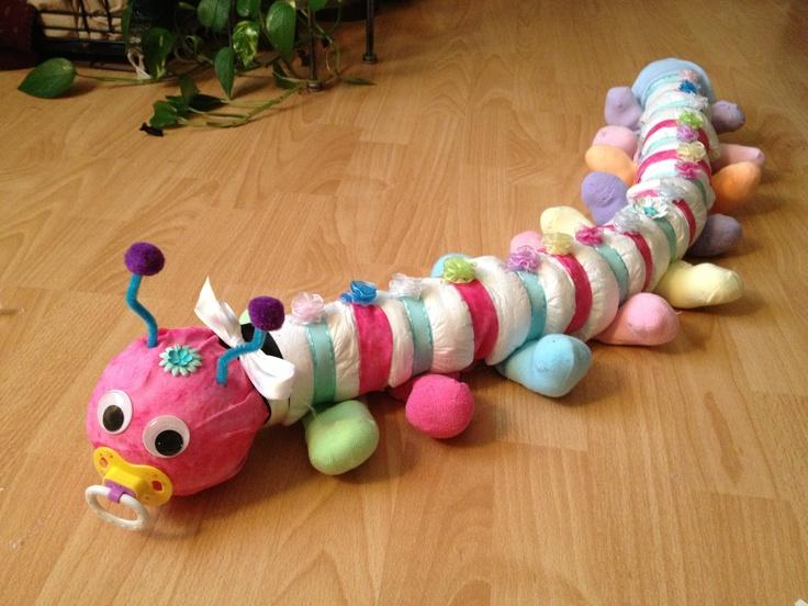 Caterpillar diaper!