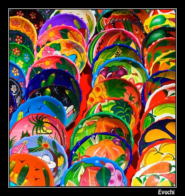 Mexican dishes, full of color