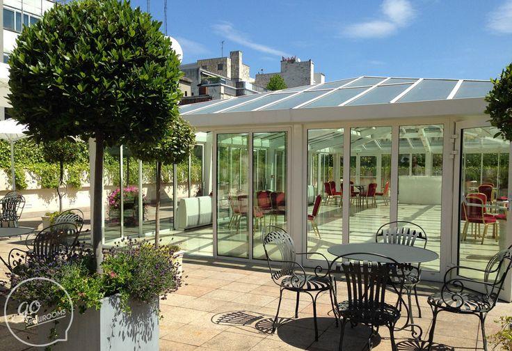 Location terrasse paris evenementiel - 357m2 de terrasse, un espace sous verrière et même .. de la lavande !