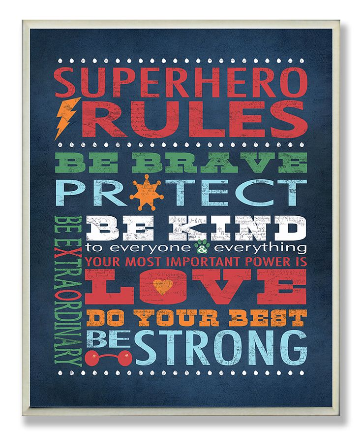 'Superhero Rules' Wall Art | something special every day