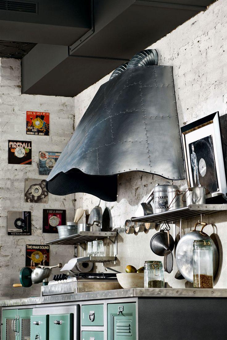 "Loft - Marchi Cucine, ""patchwork"" iron cooker hood www.marchicucine.it"