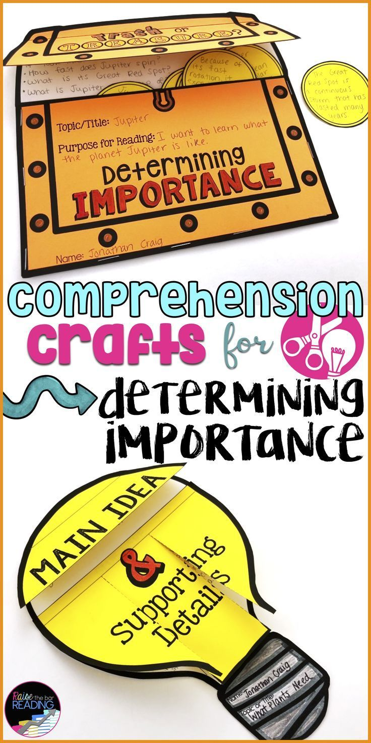- Reading Comprehension Crafts: Determining Importance Reader