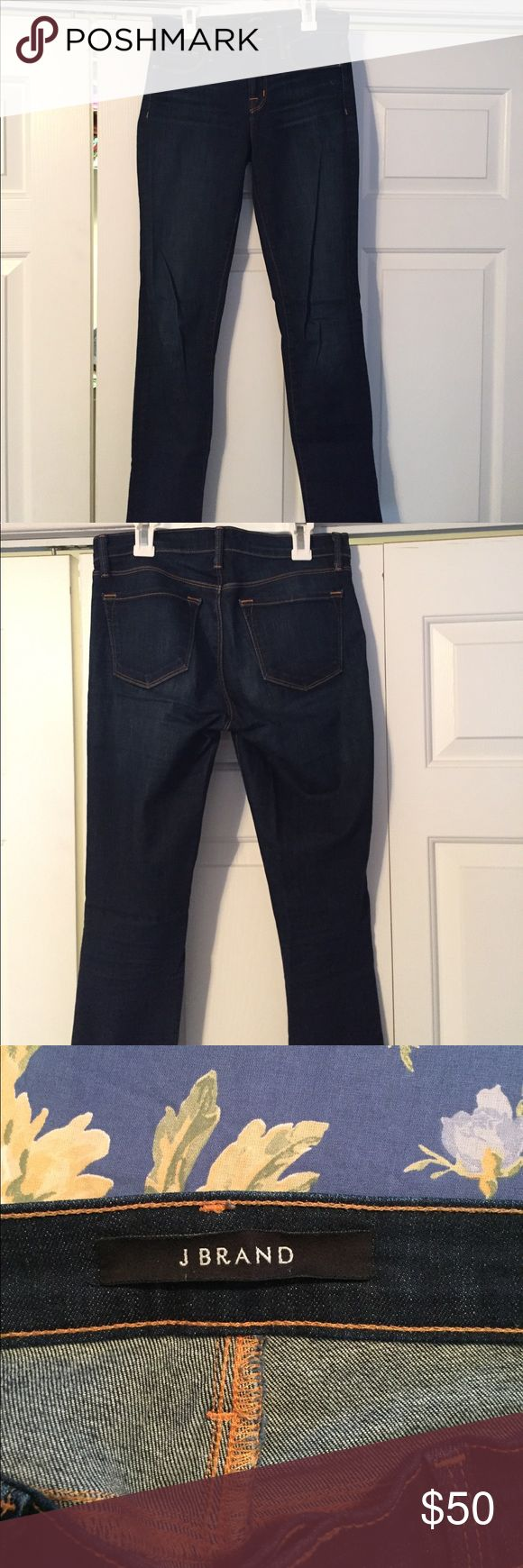 J Brand jeans Dark blue J Brand skinny jeans in size 26! Barely worn before I grew out of them. They are in great shape and fit true to size! J Brand Jeans Skinny