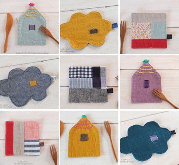handmade*zakka   cute fabric ideas