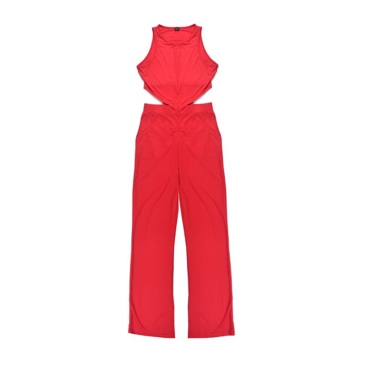 Sexy Rompers Womens Jumpsuit Long Women Jumpsuit Red One Piece Overalls for Women Summer Playsuits High Neck Bodysuit
