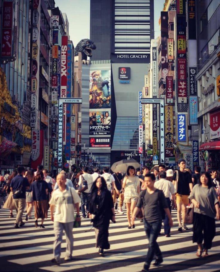 Walk in busy city