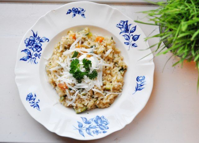 Risotto met zoete aardappel & courgette // sweet potato risotto
