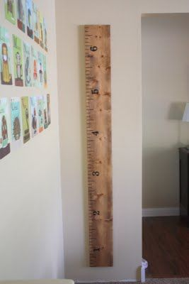 DIY Ruler Growth Chart - Pottery Barn Knock-Off This is amazing!!!