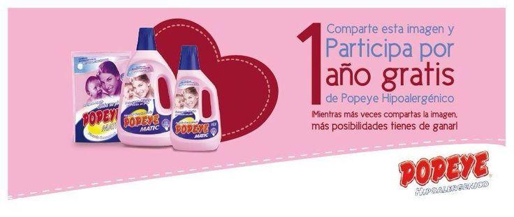 Concurso Jabón Popeye – Gana Popeye Matic por un año   Konkurs Chile Concursos http://bit.ly/1p2vNwu