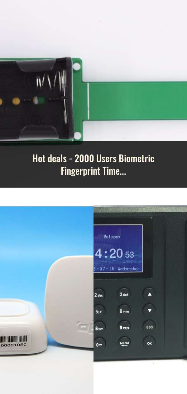 2000 Users Biometric Fingerprint Time Attendance Machine