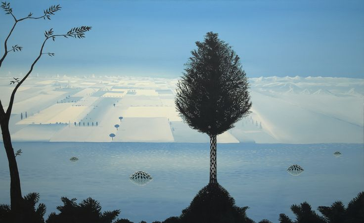 """Dark Matter Tree"" 2005 acryl on canvas 190x130cm"