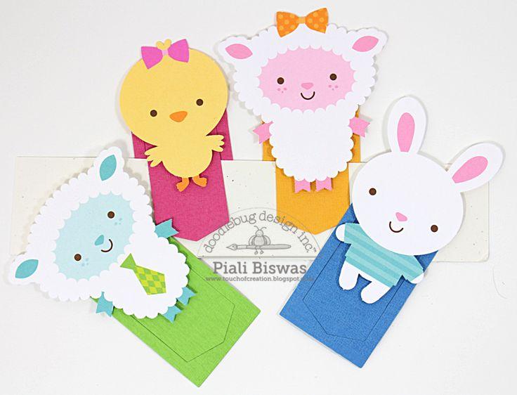 Doodlebug Design Inc Blog: Easter Parade Bookmarks by Piali Biswas