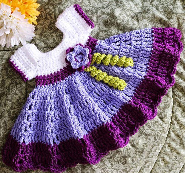 Нарядное вязаное платье для девочки: схема вязания крючком с описанием - Портал рукоделия и моды