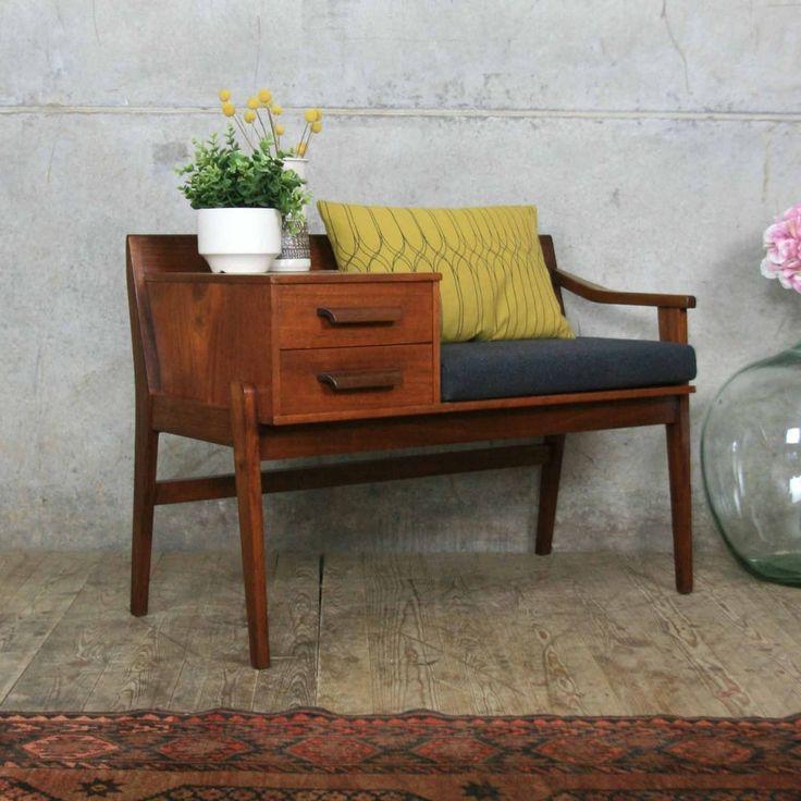 vintage_teak_chippy_heath_telephone_seat_table