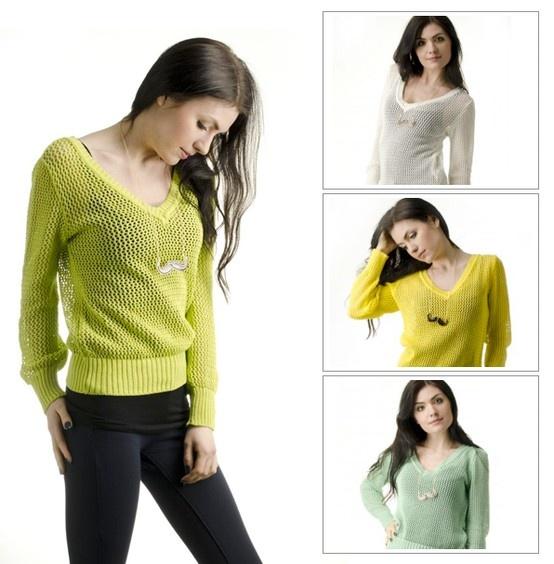 Sweter ażurowy od Signity